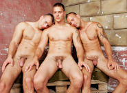 Gay Orgy GroupSex : Brotherly Love - Jason Visconti -amp; Jimmy Visconti -amp; Joey Visconti!