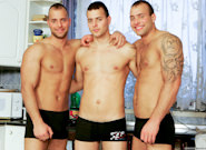 Gay Orgy GroupSex : Kitchen Party - Jason Visconti -amp; Jimmy Visconti -amp; Joey Visconti!