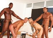 Gay Ebony Studs : Deelux Apartment - Nubius -amp; Luc Bonay -amp; Draven Torres -amp; Aron Ridge!