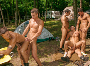 Six Man Orgy Featuring Julian Vincenzo, Lucio Maverick And Others