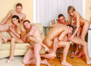 Bisex Creampie Orgy, Scene #01
