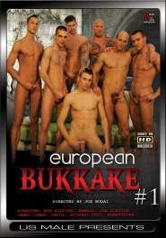European Bukkake #01 DVD Cover