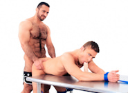 Gay Muscle Men : Adam Champ Tops JR Bronson - Adam Champ -amp; JR Bronson!