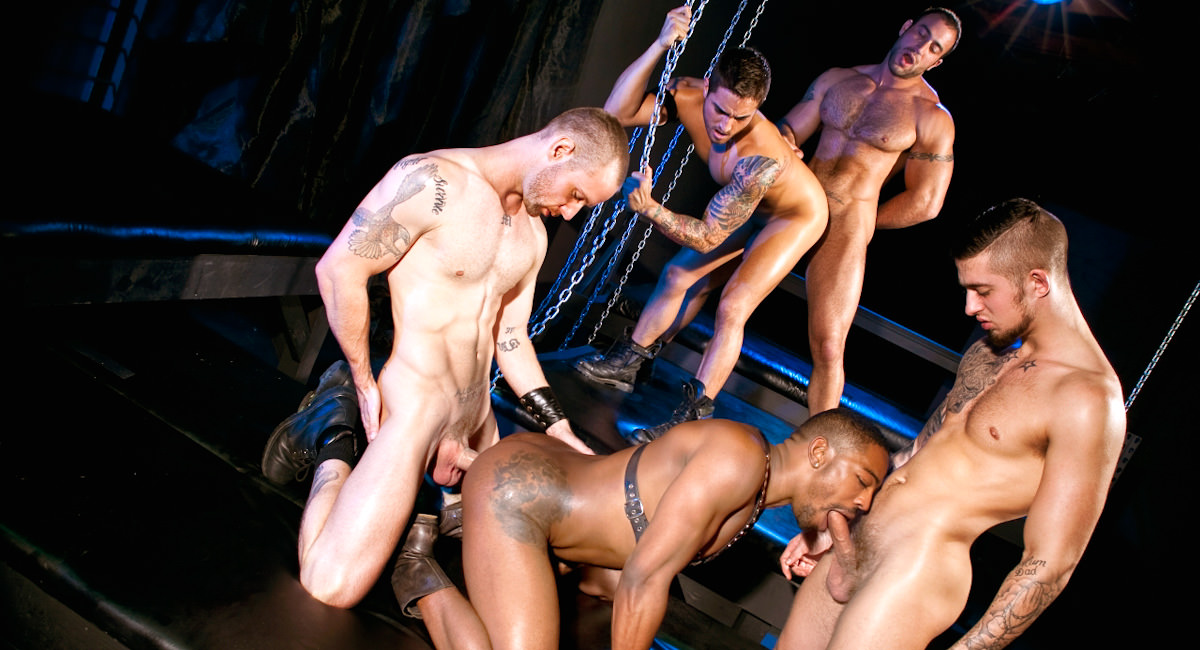Raging Stallion: Five Man Orgy Part 02 - Mathew Mason, Spencer Reed, Bryce Star, Colin Black & Troy Haydon - Fucked Down