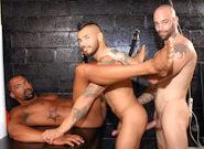 Gay Ebony Studs : Triple Pounder, Piled High - Sam Swift -amp; Draven Torres -amp; Drew Vega!