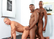 Gay Ebony Studs : Birthday Surprise - Rob Lee -amp; JP Richards -amp; Tyson Tyler!