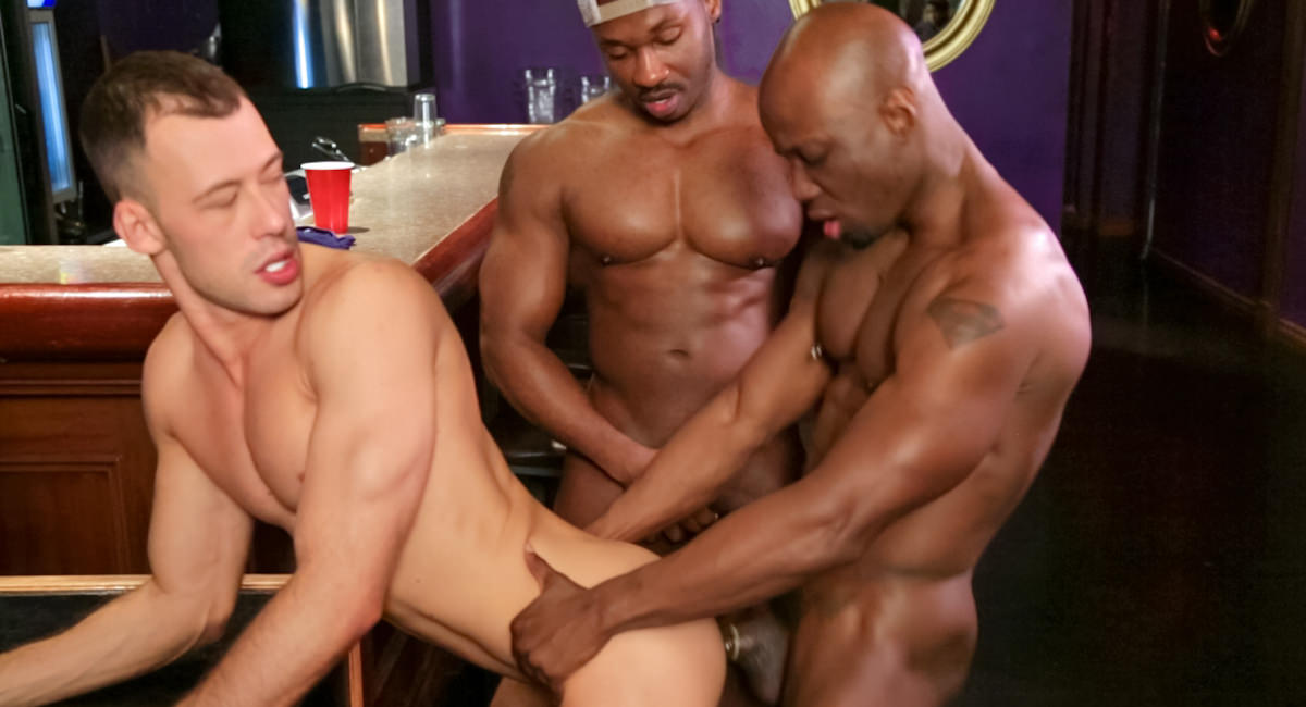 Gay Ebony Studs : Three to Get Lucky - Marc Williams -amp; Brandon Jones -amp; Jay Black!