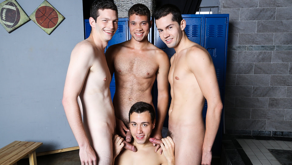 Quite good naked men playing soccer player seems