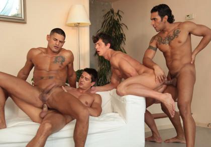 Raging Stallion: Sex City, Part 2:  Nicolas Taxman, Brandon Manilow, Lucio Saints & Benjamin Bloom