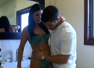 India Summers with 2 horny guys