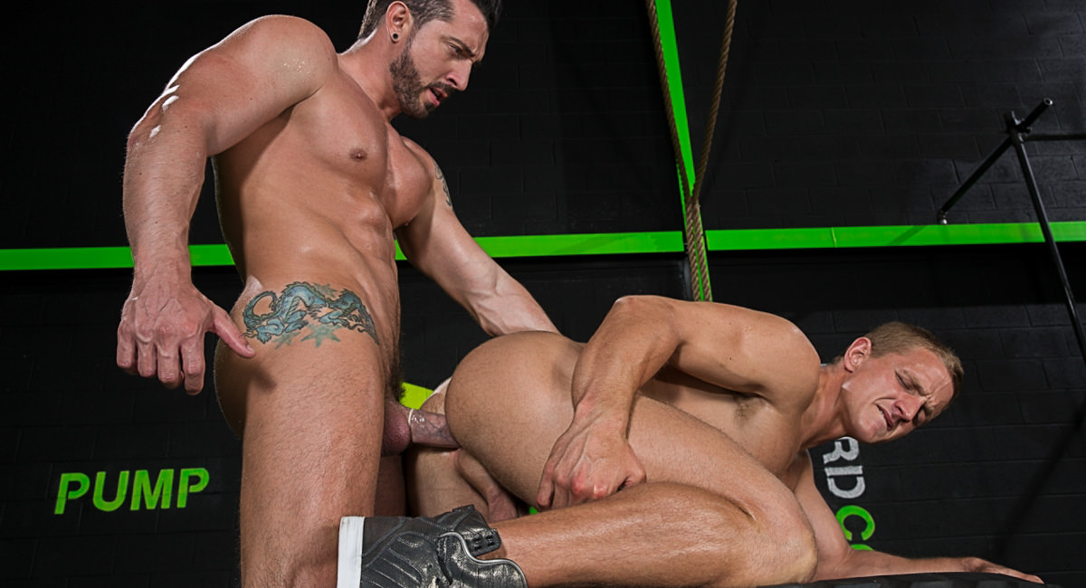 Falcon Studios: Landon Mycles & Jimmy Durano - The Trainer