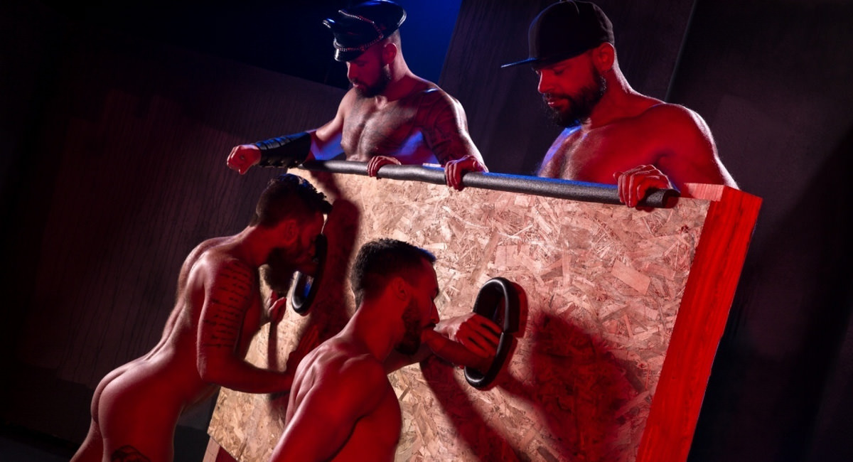 Raging Stallion: Tex Davidson, Michael Roman, Hoytt Walker, Ryan Finch - Beards, Bulges & Ballsacks!