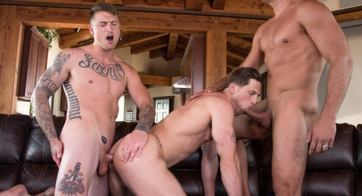 Falcon Studios: Roman Todd, Dane Stewart & Tyler Roberts - Looking For the Big One
