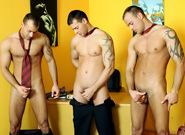 Gay Orgy GroupSex : Office Threesome Solo - Jason Visconti -amp; Jimmy Visconti -amp; Joey Visconti!