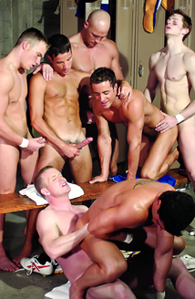 Rob Romoni, Josh Weston, Cal Jackson, Jason Hawke, Andy Hunter, Tyler Gunn, Maxx Diesel Picture