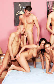 Forbidden Bisexual Orgy Picture